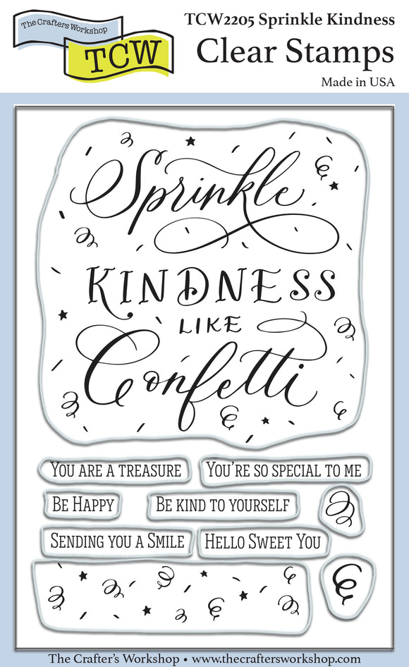 TCW2205 Sprinkle Kindness 4x6 Clear Stamps