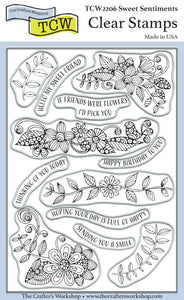 TCW2206 Sweet Sentiments 4x6 Clear Stamps