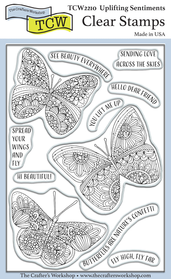 TCW2210 Uplifting Sentiments 4x6 Clear Stamps