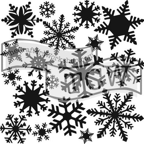 TCW164 Flurries Stencil