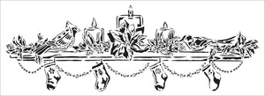 TCW2195 Christmas Mantel Sign Stencil
