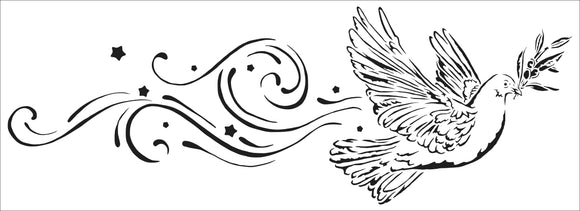 TCW2196 Peace Dove Sign Stencil