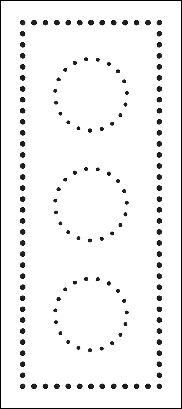 TCW2306 Dotted Circles Slimline Stencil
