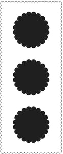 TCW2310 Scalloped Circles Slimline Stencil