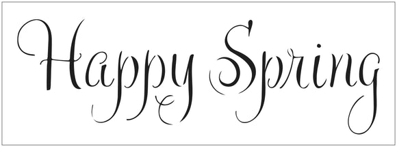 TCW2409 Happy Spring Sign Stencil 16½