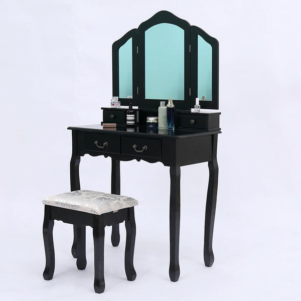 Anelllo Dressing Table Set - Black