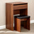 Electra Dressing Table Set - Includes Mirror & Stool - Walnut