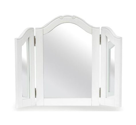 Arched Triple Dressing Table Mirror - Antique White