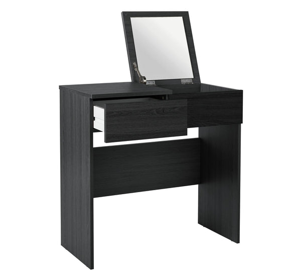 Boston Dressing Table with Mirror - Black
