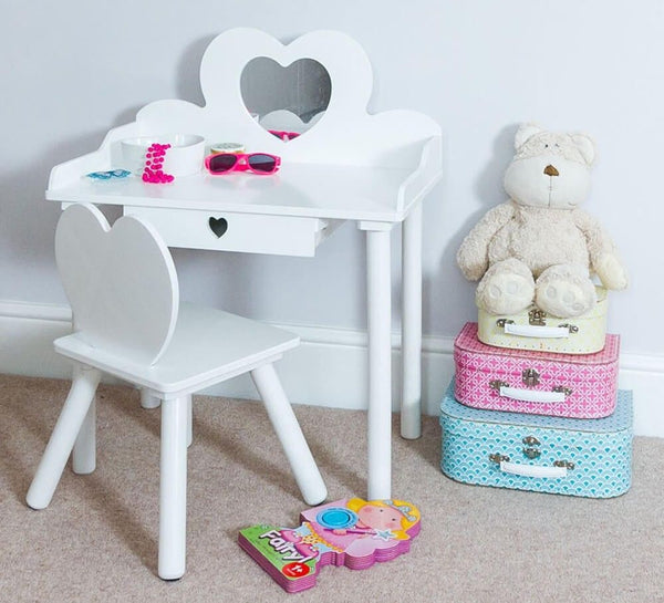 Elena Childrens Dressing Table Set - White