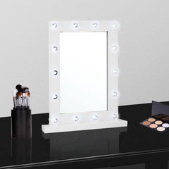 Ava Hollywood Mirror - White
