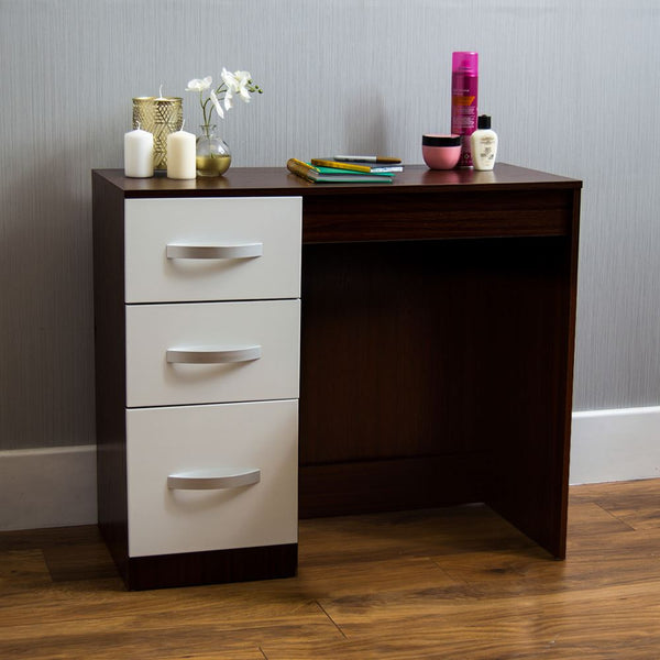 Natal Dressing Table - White & Walnut