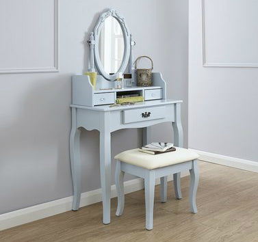 Lucia Blue Dressing Table Set