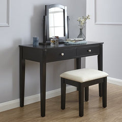 Belva Dressing Table Set - Black