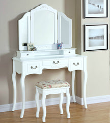 Lucille Dressing Table Set- White