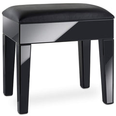 Savilles Black Mirrored Dressing Table Stool
