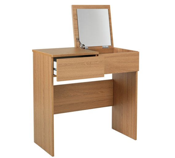 Boston Dressing Table with Mirror – Oak Effect