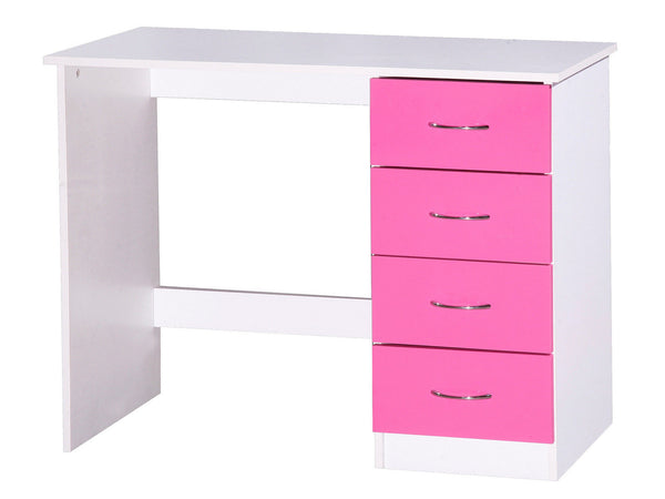 Gracie Dressing Table – Pink Gloss & White