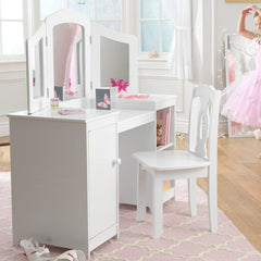 Francesca Childrens Dressing Table Set - White