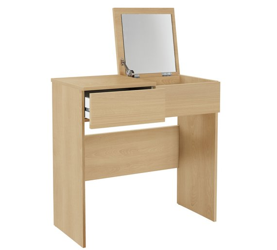 Boston Dressing Table with Mirror - Beech Effect