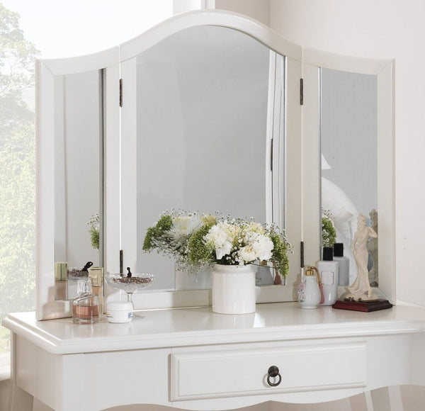Vivien Dressing Table Mirror - Antique White