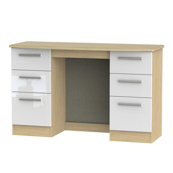 Lynette Dressing Table - Oak/White