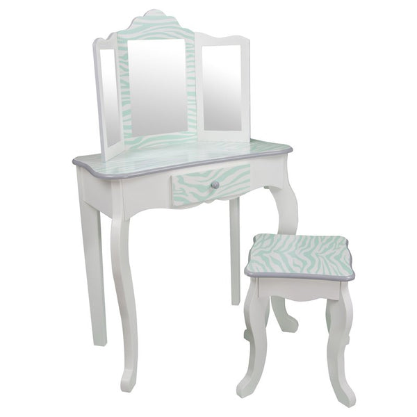 Imogen Childrens Dressing Table - White & Blue