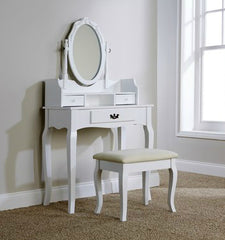 Lucia Dressing Table Set - White