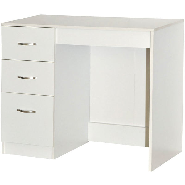 Londa Dressing Table - 3 Drawer - White