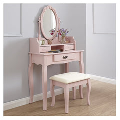 Lucia Dressing Table Set - Pink