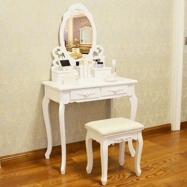 Claudia Dressing Table Set – 4 Drawers