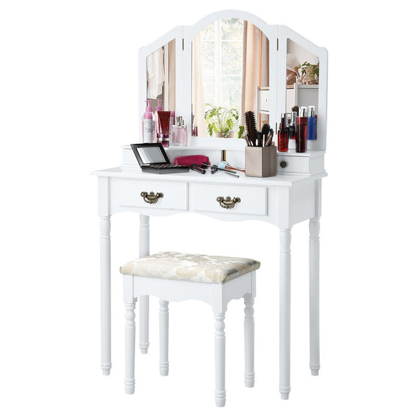 Ariana Dressing Table Set - White