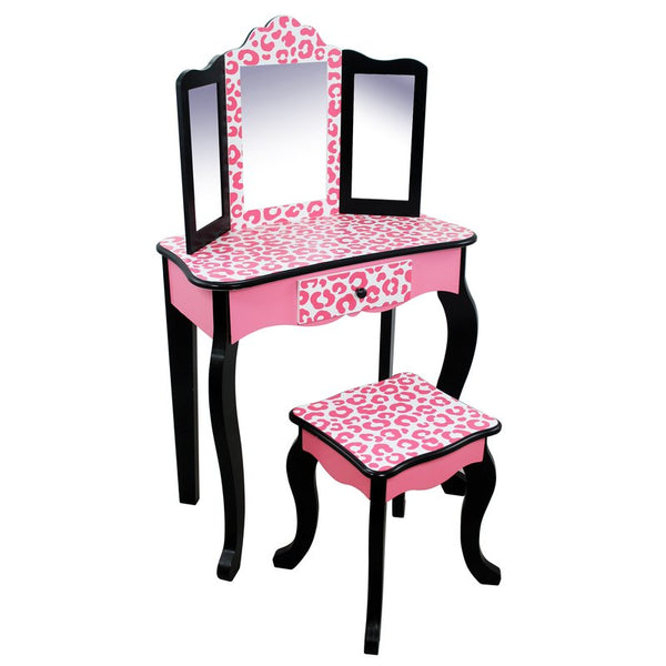 Imogen Childrens Dressing Table - Pink & Black