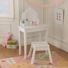 Natasha Childrens Dressing Table Set - White