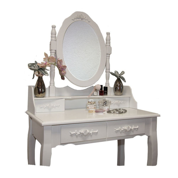 Alyssa Dressing Table Set – White