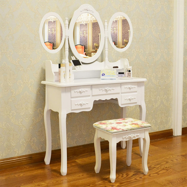 Claudia Dressing Table Set – 7 Drawers