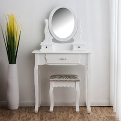 Ella Dressing Table Set - White