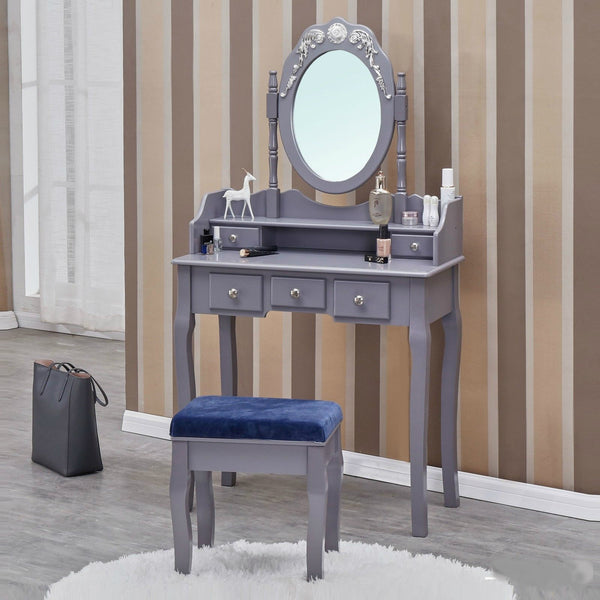 Josie Dressing Table Set – Grey