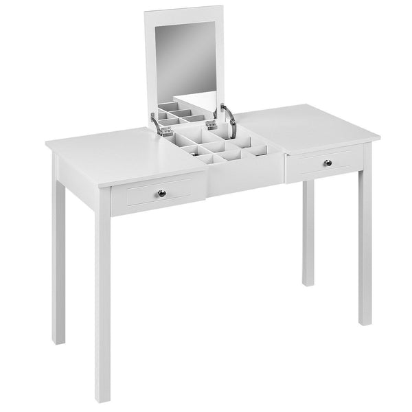 Ava Hidden Storage Folding Mirror Dressing Table