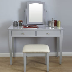 Belva Dressing Table Set - Grey