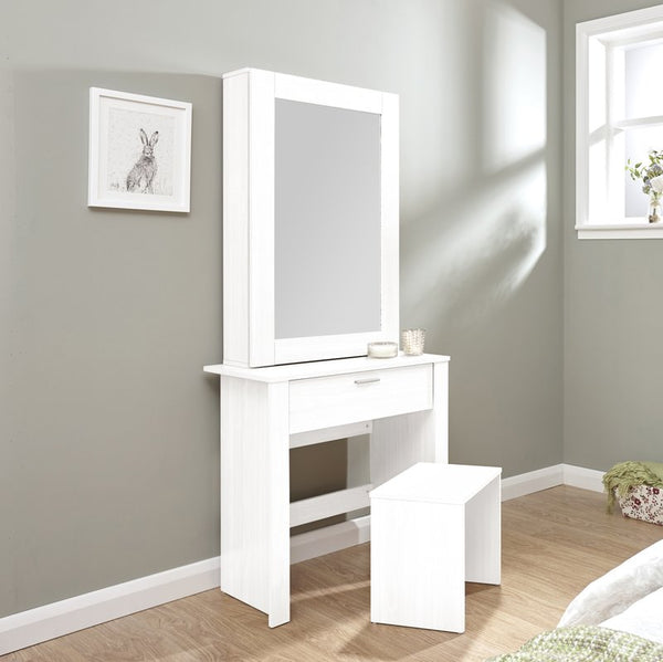 Meghan Dressing Table Set - White