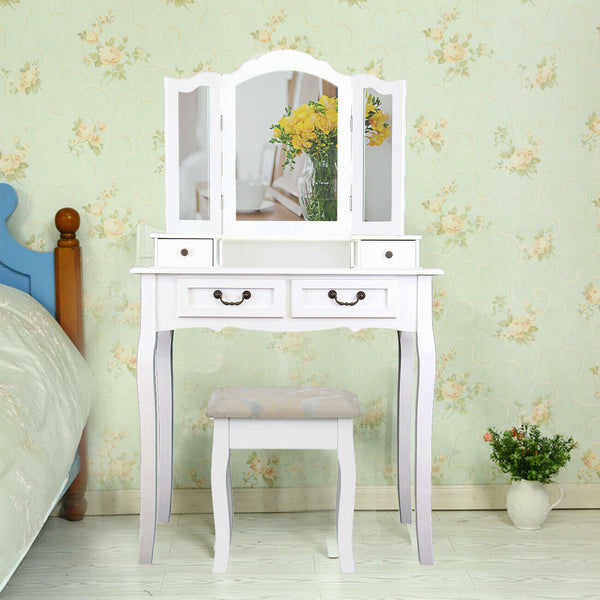 Tucia Dressing Table Set - White