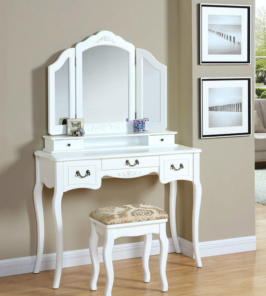 Lucille Dressing Table Set- Ivory