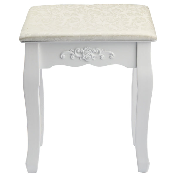 Zena Dressing Table Stool - White