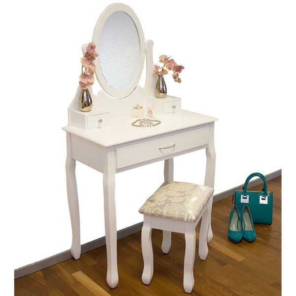 Celine Dressing Table Set – White