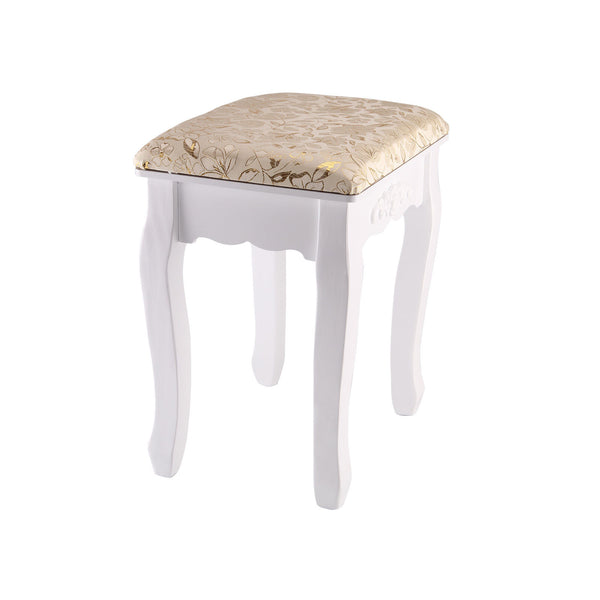 Zena Dressing Table Stool – Gold