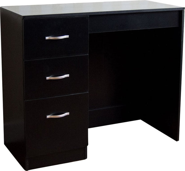 Londa Dressing Table - 3 Drawer - Black