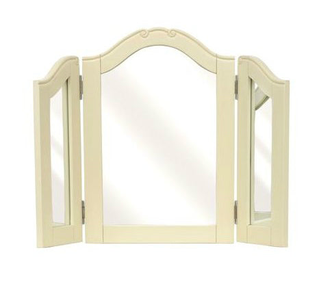 Arched Triple Dressing Table Mirror - Champagne