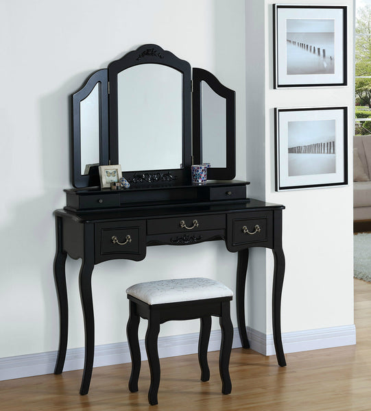 Lucille Dressing Table Set – Black