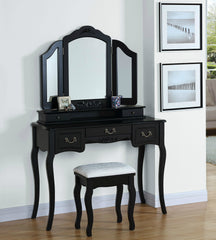 Lucille Dressing Table Set- Black
